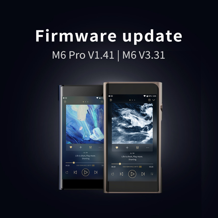 Shanling M6 & M6 Pro Firmware Update